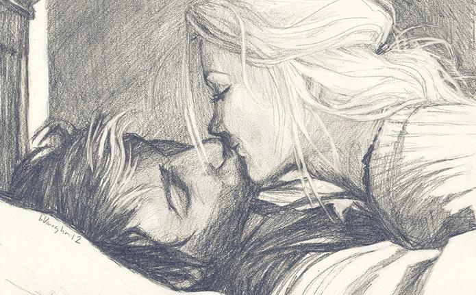 Он покупал ей теплые носки, А утром приносил ей чашку чая. Днем, словно умирая от тоски Строчил ей сообщенья «Я скучаю». Она его любила обнимать И часто с полуслова понимала, Боялась очень сильно потерять А ночью поправляла одеяло. Однажды их судьба разъединила, Причина – совпаденье или случай. Она себя за что-то обвинила, А он решил «оставь её, не мучай». И дальше лишь большое расстоянье, Не верится, но так оно и было, Такое вот дурное испытанье, А он любил, как и она любила. Да, время…