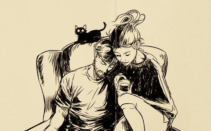 Человеку нужен человек, Чтобы пить с ним горьковатый кофе, Оставаться рядом на ночлег, Интересоваться о здоровье. Чтобы улыбаться просто так, Чтоб на сердце стало потеплее, Чтобы волноваться: «Там сквозняк! Надевай-ка тапочки скорее». Человеку нужен человек, Позвонить ему, послушать голос: «А у нас сегодня выпал снег. Как ты без меня там? Беспокоюсь!» Чтобы был приятель, друг, сосед, И еще сопящая под боком, Без которой счастья в жизни нет, Без которой очень одиноко... © Марина Бойкова